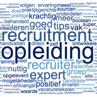 Recruitment opleiding wordcloud